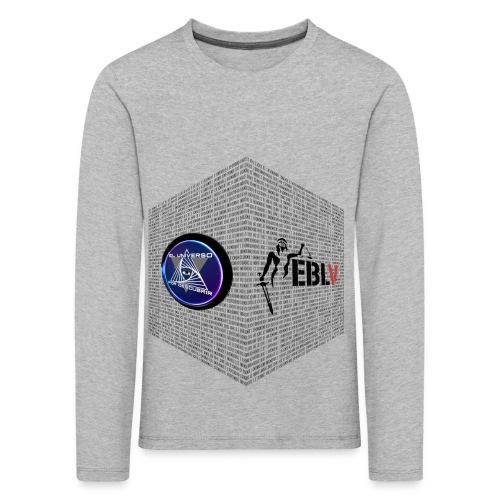 disen o dos canales cubo binario logos delante - Kids' Premium Longsleeve Shirt
