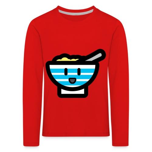 Cute Breakfast Bowl - Kids' Premium Longsleeve Shirt