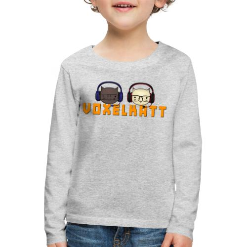 VOXELKATT LOGO - Långärmad premium-T-shirt barn