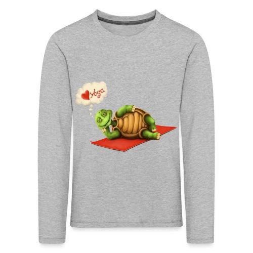 Love-Yoga Turtle - Kinder Premium Langarmshirt