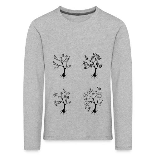 Vuodenajat - Lasten premium pitkähihainen t-paita