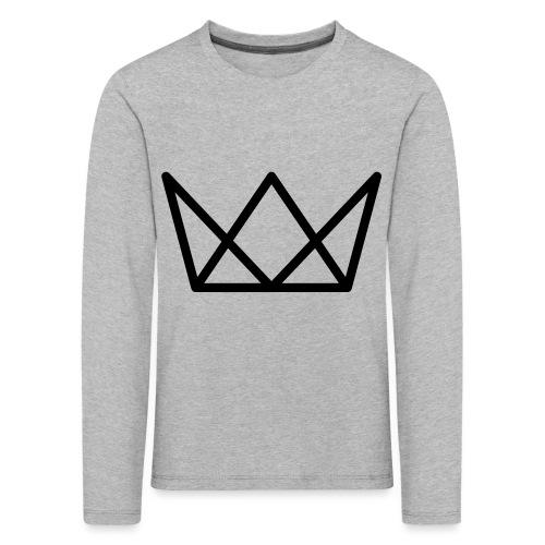 TKG Krone schwarz CMYK - Kinder Premium Langarmshirt