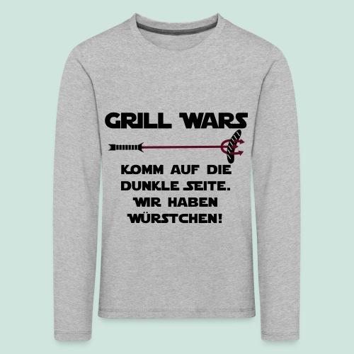 Grill wars komm auf die die dunkle Seite - Kinder Premium Langarmshirt