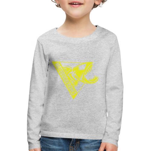 Logo Motoboquerones amarillo - Camiseta de manga larga premium niño