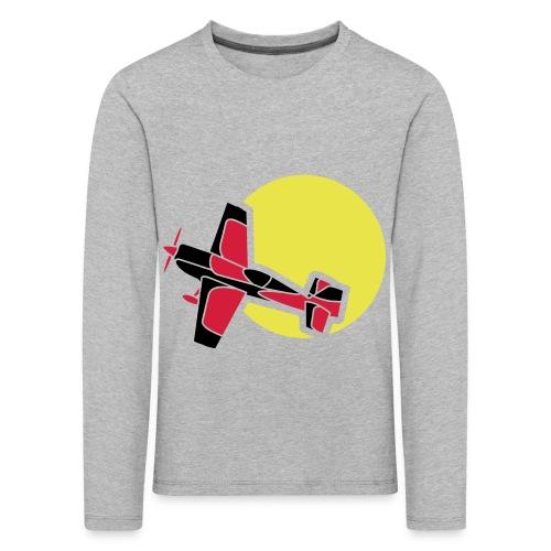Flugzeug Jet Airplane Sky Himmel Sun Sonne Sport - Kinder Premium Langarmshirt