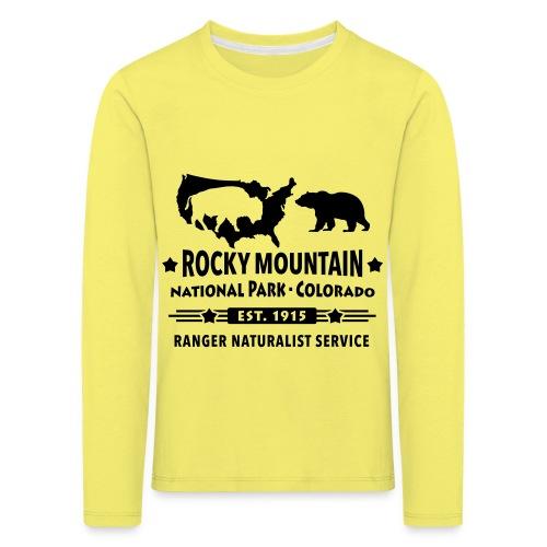 Rocky Mountain Nationalpark Berg Bison Grizzly Bär - Kids' Premium Longsleeve Shirt