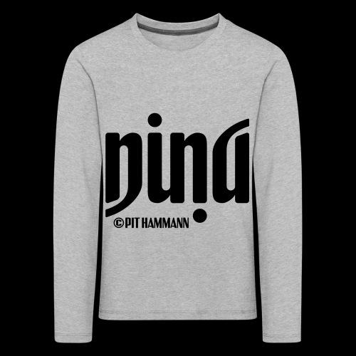 Ambigramm Nina 01 Pit Hammann - Kinder Premium Langarmshirt
