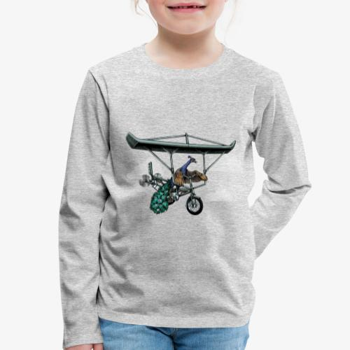 Flight of the Peacock - Kids' Premium Longsleeve Shirt