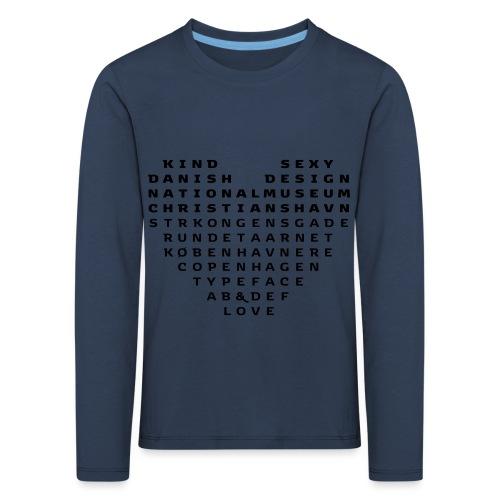 Copenhagen Heart - Børne premium T-shirt med lange ærmer