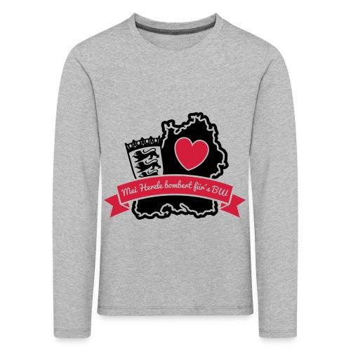 Herzle BW - Kinder Premium Langarmshirt