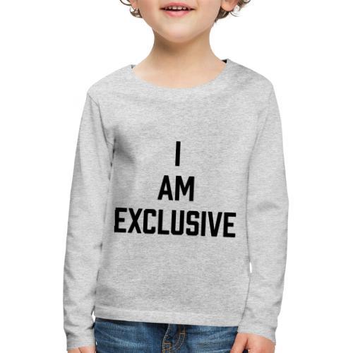 I am Exclusive - Kinder Premium Langarmshirt