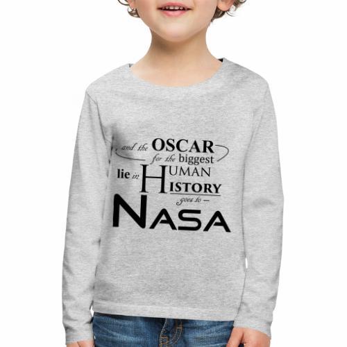 Flat Earth Nasa - Kinder Premium Langarmshirt