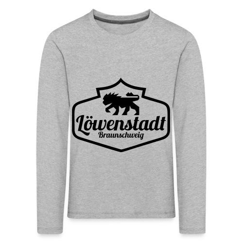 Löwenstadt Design 1 schwarz - Kinder Premium Langarmshirt