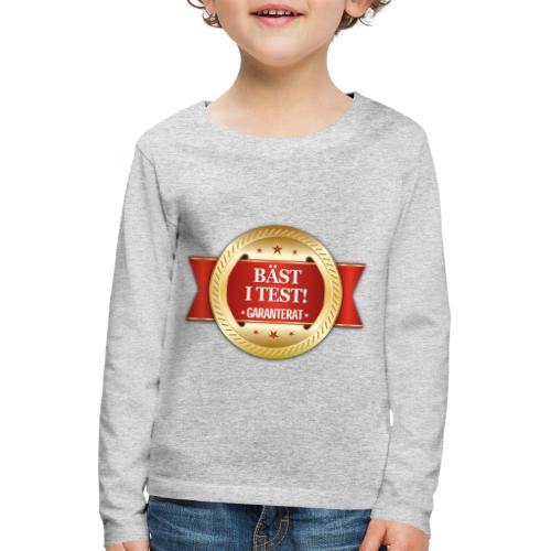 Bäst i test - Garanterat - Långärmad premium-T-shirt barn