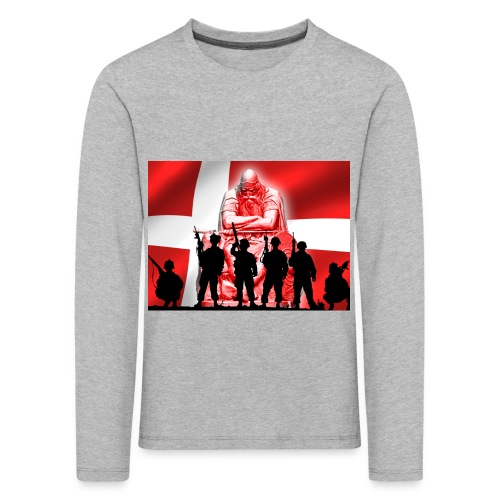 Holger Danske - Børne premium T-shirt med lange ærmer