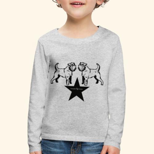 Brussels Griffon Logo - T-shirt manches longues Premium Enfant