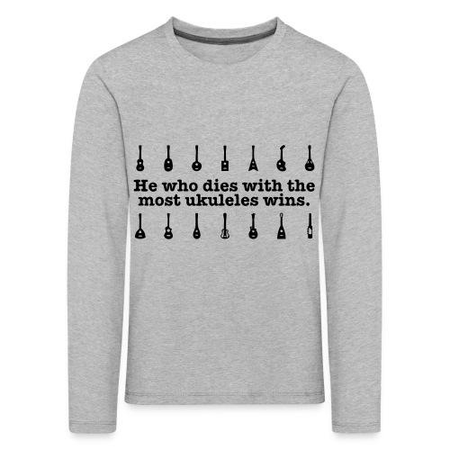 ukulele_wins - Kids' Premium Longsleeve Shirt