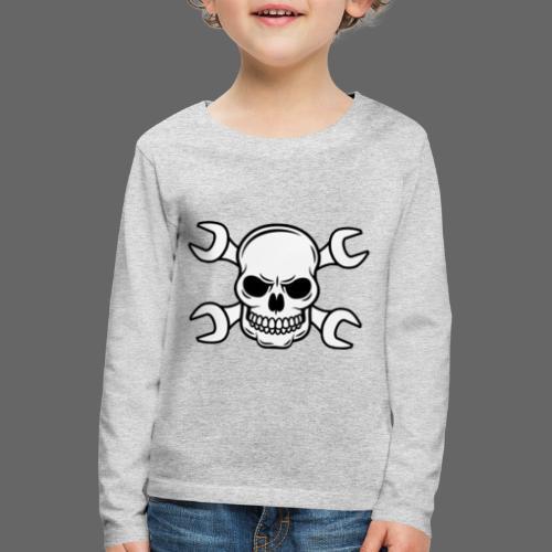MEKKER SKULL - Børne premium T-shirt med lange ærmer