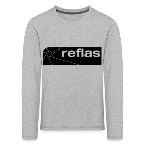 Reflas Clothing Black/Gray - Maglietta Premium a manica lunga per bambini