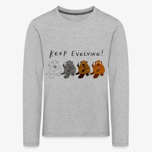 Keep Evolving! - Kinder Premium Langarmshirt