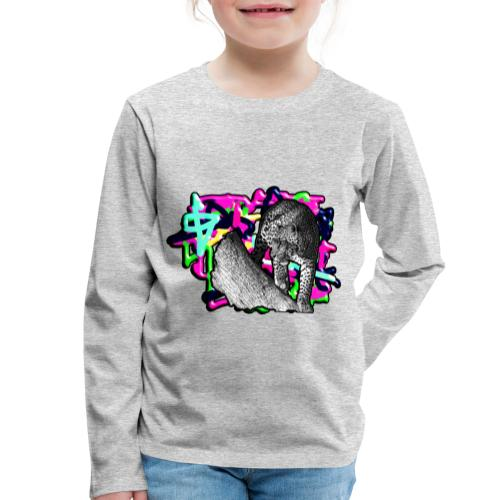 Leopard auf Bunt - Kinder Premium Langarmshirt