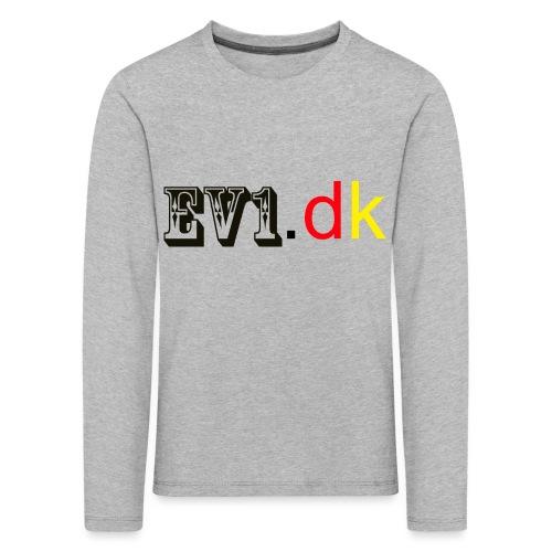 ev1 - Børne premium T-shirt med lange ærmer
