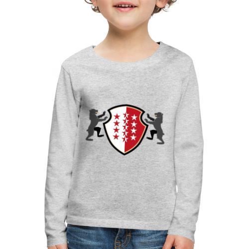 Shield of Valais - Wallis with bears - Kinder Premium Langarmshirt
