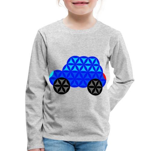 The Car Of Life - M01, Sacred Shapes, Blue/R01. - Kids' Premium Longsleeve Shirt
