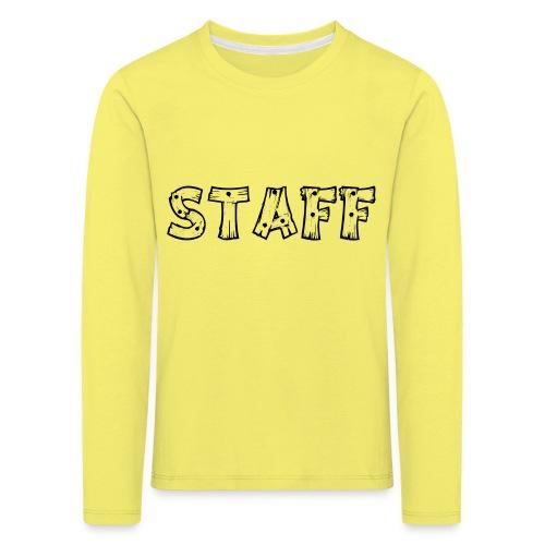 STAFF - Maglietta Premium a manica lunga per bambini