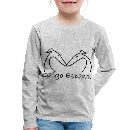 Galgopaar - Kinder Premium Langarmshirt