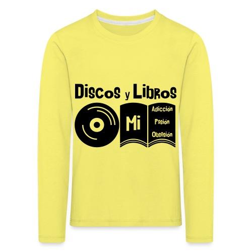 Discos y Libros - Camiseta de manga larga premium niño