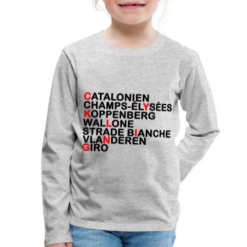 CYKLING - Børne premium T-shirt med lange ærmer
