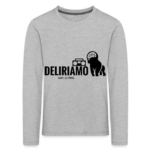 DELIRIAMO CLOTHING (GdM01) - Maglietta Premium a manica lunga per bambini