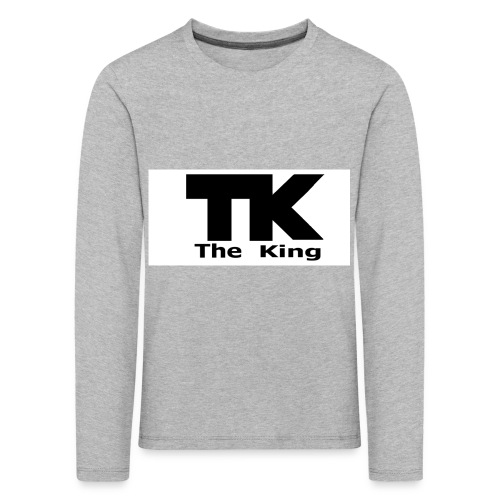 The King med ram - Långärmad premium-T-shirt barn
