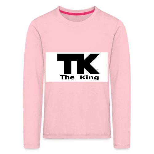 The King med ram - Långärmad premium-T-shirt barn
