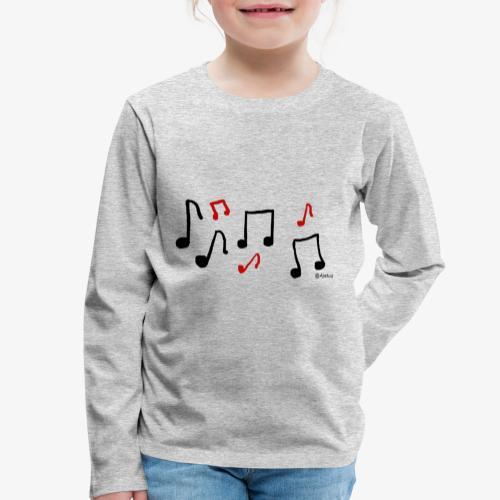 Nuotit - Lasten premium pitkähihainen t-paita