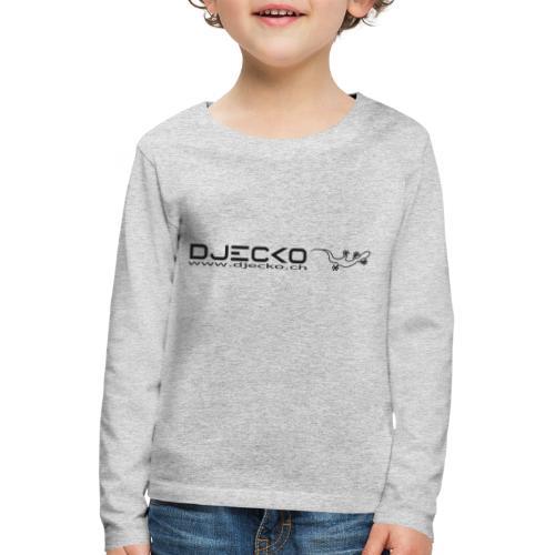 Logo rect noir txt et gecko - T-shirt manches longues Premium Enfant