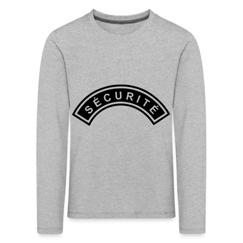 Ecusson Sécurité demilune - T-shirt manches longues Premium Enfant