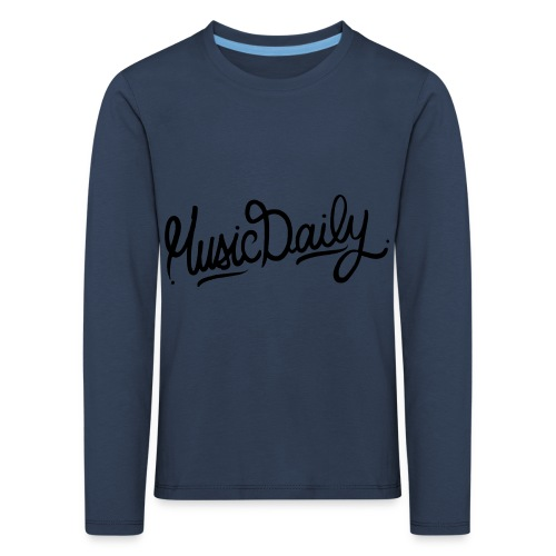 MusicDaily Logo - Kinderen Premium shirt met lange mouwen