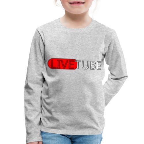 Livetube - Børne premium T-shirt med lange ærmer