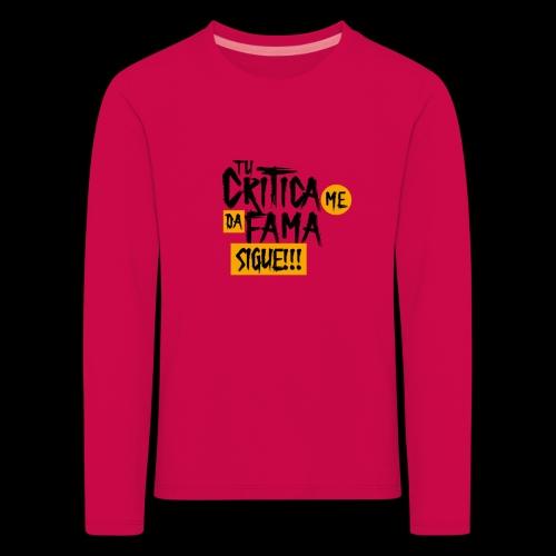 CRITICA - Camiseta de manga larga premium niño