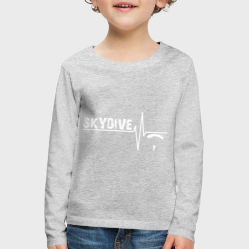 Pulse White - Kinder Premium Langarmshirt
