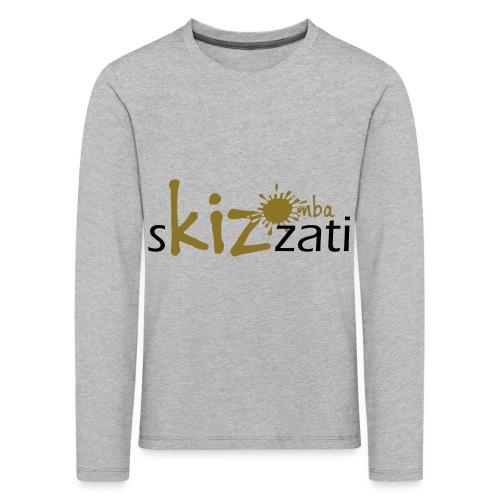 Beanie in jersey con logo sKizzati Kizomba - Verde - Maglietta Premium a manica lunga per bambini
