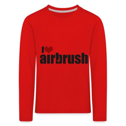 I Love airbrush - Kinder Premium Langarmshirt