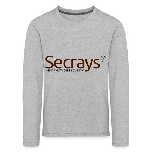 Secrays vektori logo - Lasten premium pitkähihainen t-paita