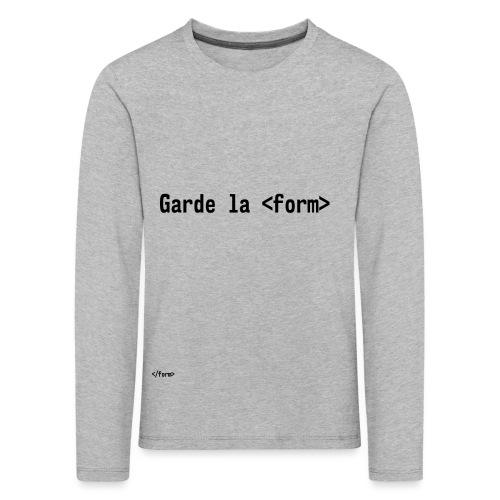Design_dev_blague - T-shirt manches longues Premium Enfant