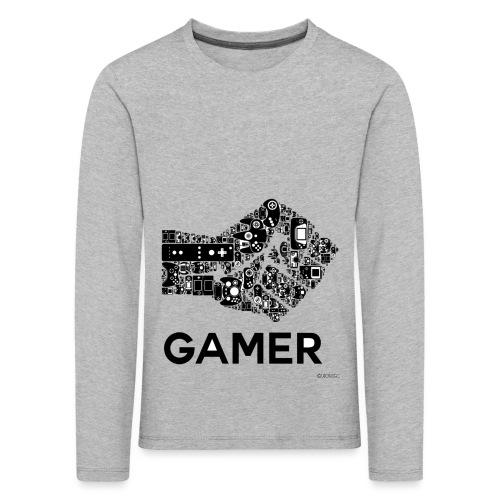 POING GAMEUR - T-shirt manches longues Premium Enfant