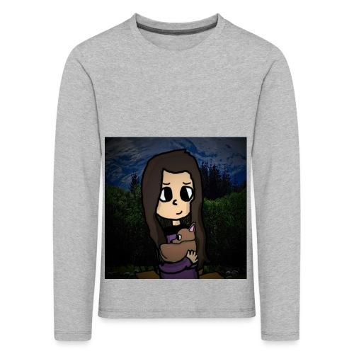 ninjax met achtergrond - Kinderen Premium shirt met lange mouwen