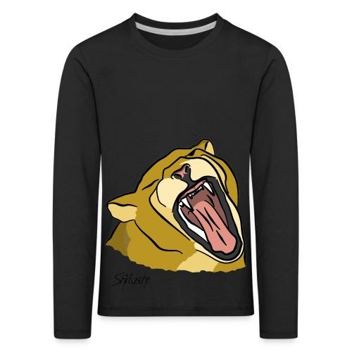 Gähnender / brüllender Löwe - Kinder Premium Langarmshirt