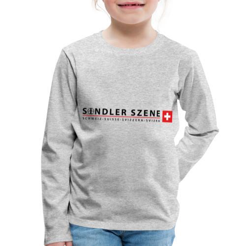Sondler Szene Schweiz Logo breit - Kinder Premium Langarmshirt
